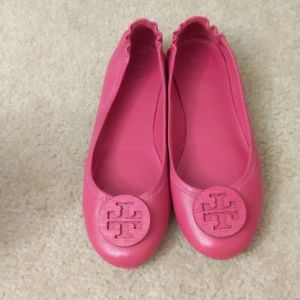 Tory Burch pink flats size 8